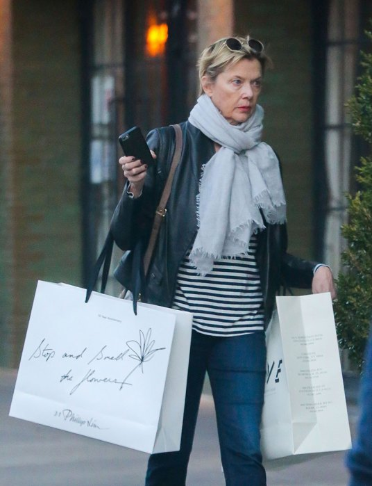 Exclusive… Annette Bening Shops In NYC