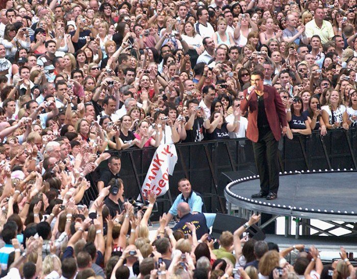 George Michael Performs First Concert At New Wembley Stadium