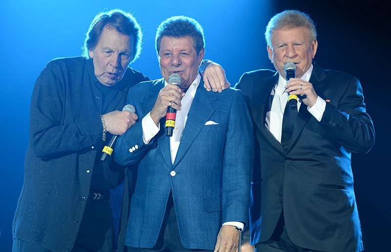 Coconut Creek, Florida - Dick Fox's Golden Boys, starring Frankie Avalon, Fabian & Bobby Rydell, perform live at The Seminole Coconut Creek Casino.  -PICTURED: Fabian, Frankie Avalon, Bobby Rydell -PHOTO by: INSTARimages.com -Instar_Fabian_Rydell_Avalon_Perform_Coconut_Creek_1010  Editorial Rights Managed Image - Please contact www.INSTARimages.com for licensing fee and rights: North America Inquiries: email sales@instarimages.com or call 212.414.0207 - UK Inquiries: email ben@instarimages.com or call + 7715 698 715 - Australia Inquiries: email sarah@instarimages.com.au  or call +02 9660 0500 – for any other Country, please email sales@instarimages.com.  Image or video may not be published in any way that is or might be deemed defamatory, libelous, pornographic, or obscene / Please consult our sales department for any clarification or question you may have - http://www.INSTARimages.com reserves the right to pursue unauthorized users of this image or video. If you are in violation of our intellectual property you may be liable for actual damages, loss of income, and profits you derive from the use of this image or video, and where appropriate, the cost of collection and/or statutory damage.