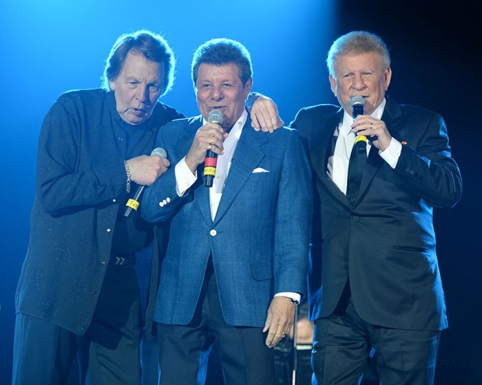Frankie Avalon, Fabian & Bobby Rydell perform on stage in Coconut Creek