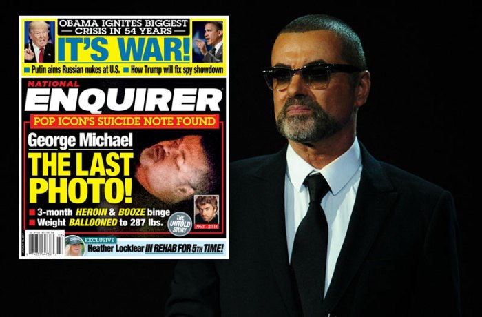British singer George Michael presents a