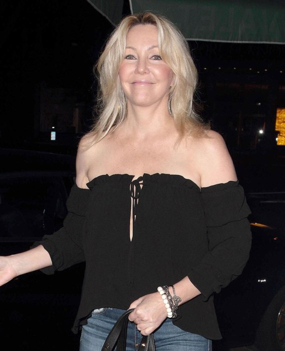 *EXCLUSIVE* Heather Locklear at Madeo Restaurant