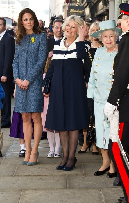 Queen Elizabeth II, Duchess Of Cornwall And The Duchess Of Cambridge Visit Fortnum And Mason Store
