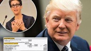 donald trump tax returns rachel maddow msnbc