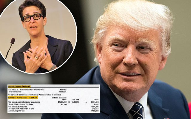 donald trump tax returns rachel maddow msnbc
