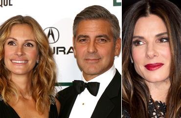 Julia Roberts, George Clooney and Sandra Bullock
