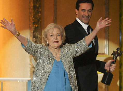 Betty White and Jon Hamm