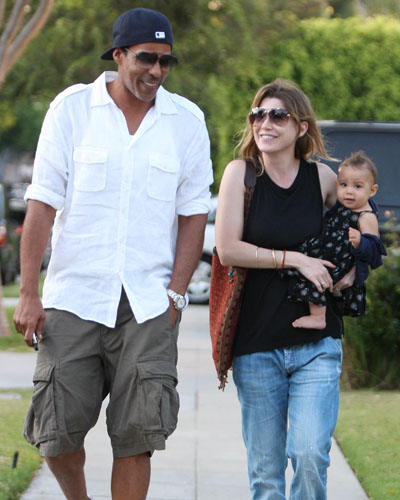 Ellen Pompeo with husband Chris Ivery and baby Stella