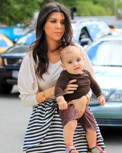 Kourtney Kardashian and Mason