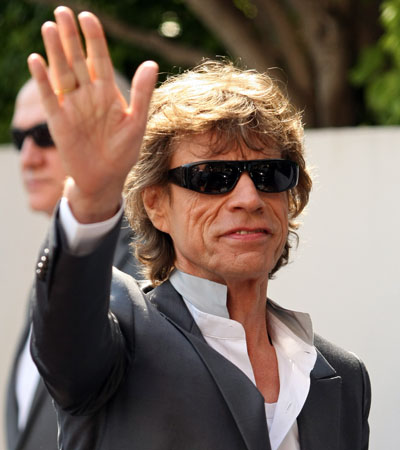 Mick Jagger at <i>Stones in Exile</i> photocall