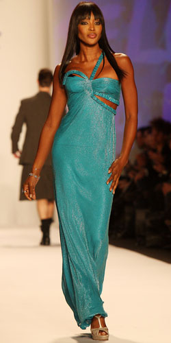 Naomi Campbell in Fashion for Relief Haiti Show
