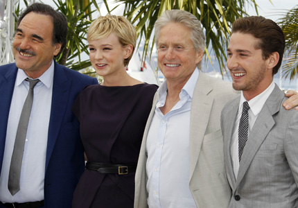 Oliver Stone, Carey Mulligan, Michael Douglas and Shia LaBeouf at <i>Wall Street: Money Never Sleeps</i> photocall