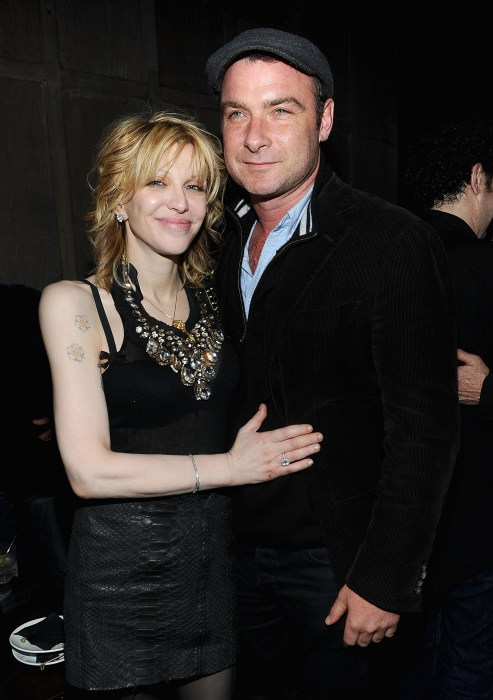 Courtney Love and Liev Schreiber at the after party for the premiere of <i>Last Night</i>.