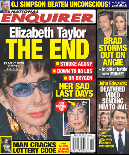 The National ENQUIRER reported on Liz throughout the years right up to the end.