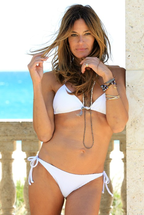 Former Real Housewife Kelly Bensimon shows off her bikini body in West Palm Beach.