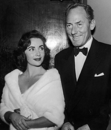 Elizabeth Taylor with husband #2, English actor Michael Wilding.