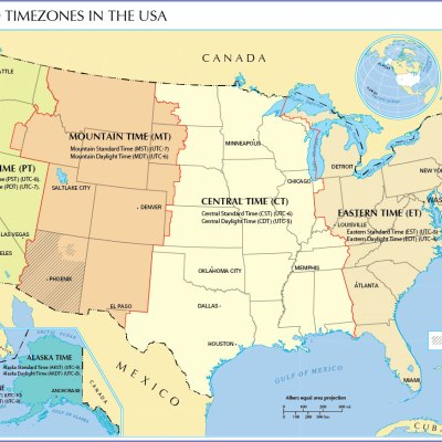 US TIME ZONES MAP  maps map cv text biography template letter