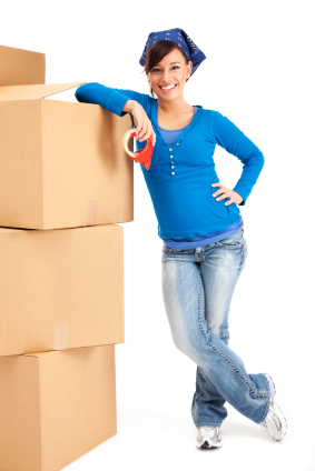 Nationwide Storage - moving house boxes woman
