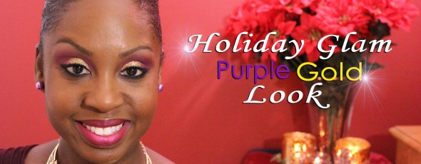 Video: Holiday Glam Purple & Gold Look