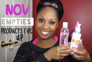 November Empties /Products I've Used Up This Month