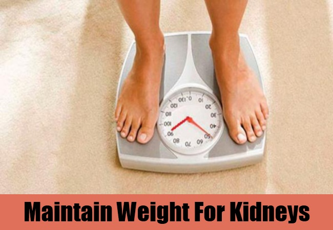 Maintain Weight For Kidneys