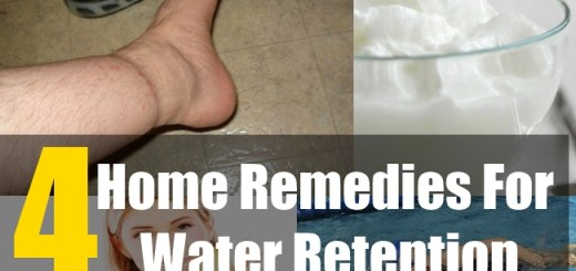 4 Home Remedies For Water Retention