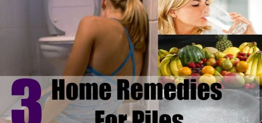 3 Home Remedies For Piles