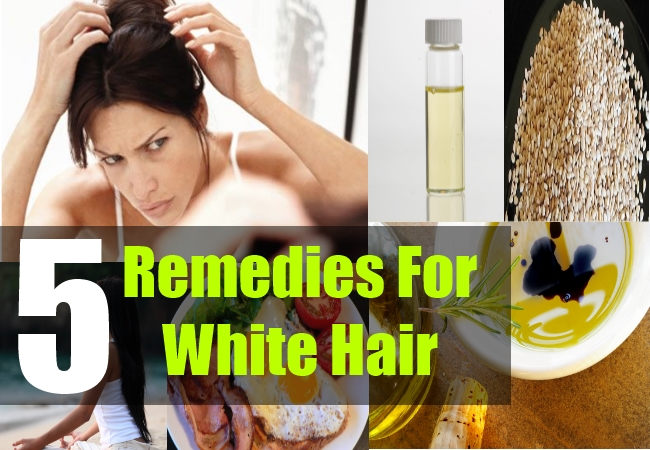 5 Home Remedies For White Hair