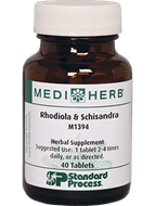 Stress Relief Standard Process Rhodiola and Schisandra 40 Tablets Holistic Homeopathic Natural Medicine Center Lakeland Central Florida