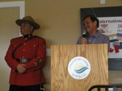2013 Kick-Off luncheon Mayor Wayne Rotswe of Gibsons speaking to the guests