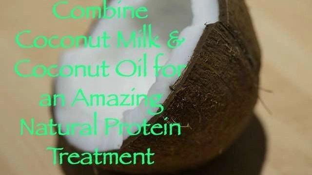 Combine-Coconut-Milk-Coconut-Oil-Amazing-Natural-Protein-Treatment
