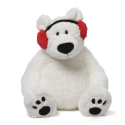 Small Crop Of Polar Bear Stuffed Animal