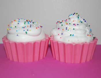 buttercream cupcake soap