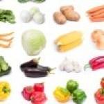 Propiedades, Vitaminas y Minerales de las Frutas y Verduras