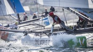 WMRT – World Match Racing Tour : Guichard comes from behind to win breezy first day in Marstrand
