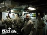 Sala de controle em postos de combate