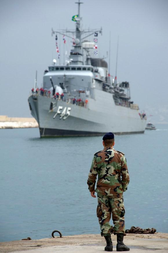 Fragata União no Líbano