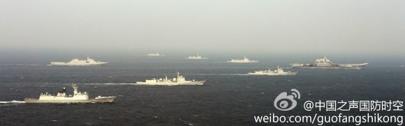 PLAN ships and Liaoning - 2
