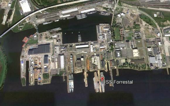 USS Forrestal no Google Earth