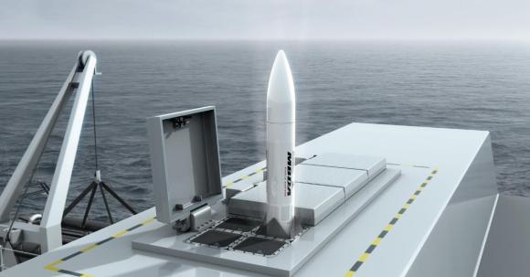 Sea Ceptor - lançamento de célula com quatro mísseis - imagem MBDA