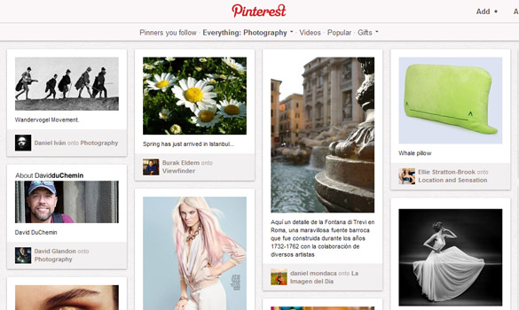 ¿Podrá Pinterest desbancar a Flickr como red social preferida de fotografías?