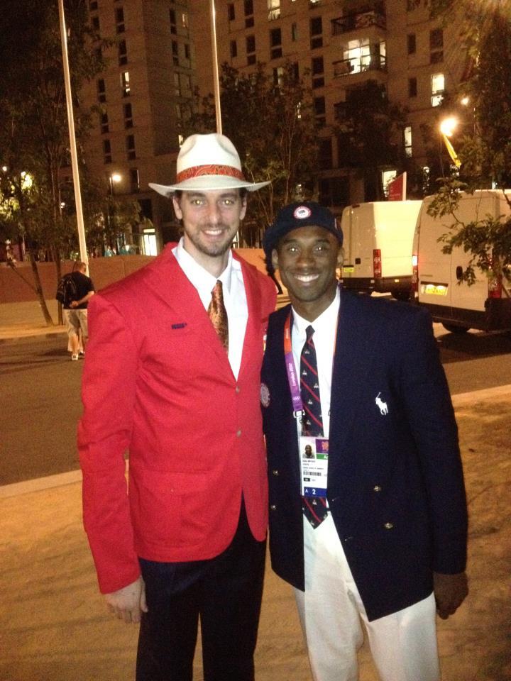 Kobe Bryant y Pau Gasol JJOO
