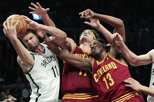 Brook Lopez, Anderson Varejao, Tristan Thompson