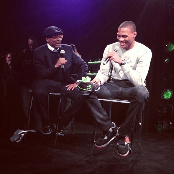 Russell Westbrook y Spike Lee