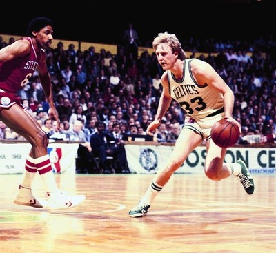 Larry Bird y Julius Erving