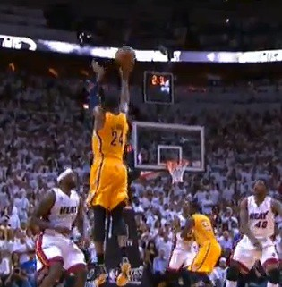 Paul George Pacers Heat Playoffs 2013