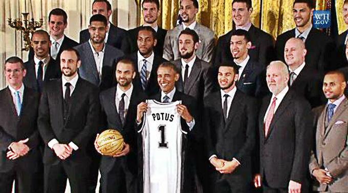 Spurs Obama