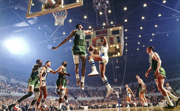 Bill Russell Lakers Celtics