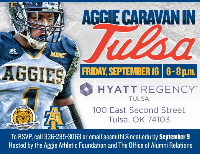 Aggie Caravan in Tulsa 9-16-16, e-mail assmithl@ncat.edu