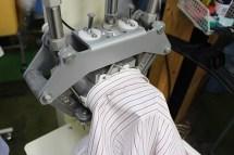 ワイシャツ仕上げエリの最終仕上げエリがすっきり